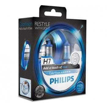 Philips ColorVision Blue H7 12V 55W 12972CVPBS2