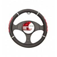 Poťah volantu čierno-červený