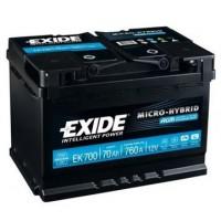 Exide AGM 12V 70Ah 760A, EK700