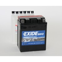 Exide Bike AGM - Maintenance Free 12V 12Ah 210A, YTX14AHL-BS