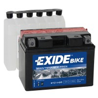 Exide Bike AGM - Maintenance Free 12V 12Ah 135A, YTZ14-BS