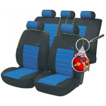 Autopoťahy Walser SportSpeed ZIPP IT modro-čierne