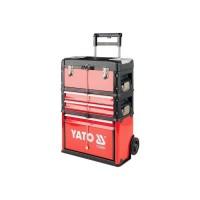 YATO-09101 Vozík na nářadí 3 sekce, 2 zásuvky