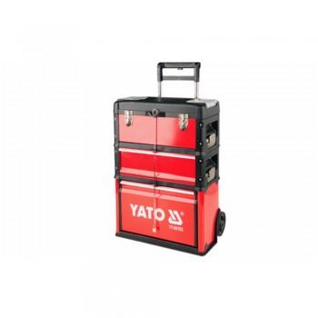 YATO-09102 Vozík na nářadí, 3 sekce, 1 zásuvka
