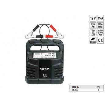 YATO Nabíjačka 15A 12V gel/procesor YT-8303