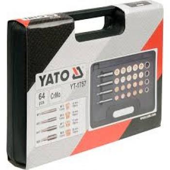 Sada na opravu vypúšťacích skrutiek olejových vaní - YT-1757 YATO
